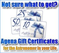 Agena Gift Certificates