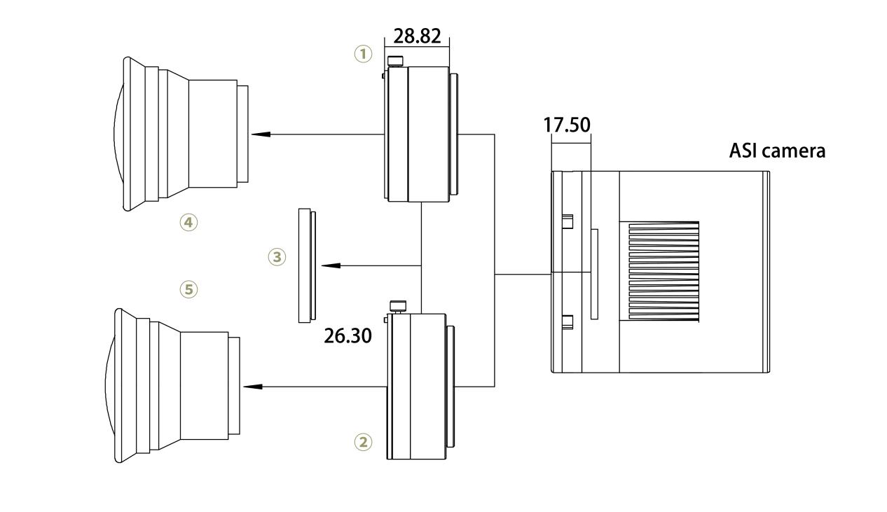 Connecting DSLR lens Diagram of 2600