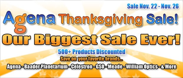Agena Thanksgiving Sale