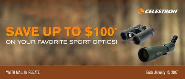 Celestron Holiday Binocular and Spotting Scope Mail-In Rebate Promotion