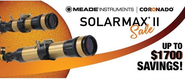 Save up to 20% on Coronado SolarMax II H-Alpha Telescopes