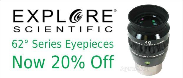 Explore Scientific 62-Degree Series Eyepieces Sale