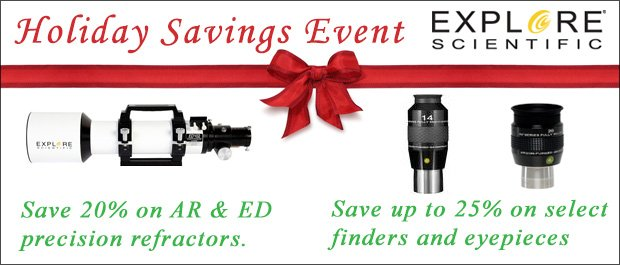 Explore Scientific Holiday Sale