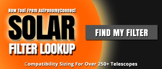 Solar Filter Compatibility Lookup Tool for Telescopes